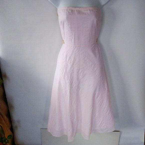 J. Crew Dresses & Skirts - Pastel pink J Crew seersucker party dress
